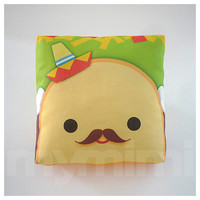 Decorative Pillow Taco Pillow Sombrero Pillow Mexican by mymimi