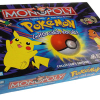 Pokemon Monopoly Collectors Edition Family Game 6 Pewter Tokens Parker Brothers