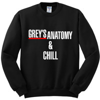 "Grey's Anatomy ""Grey's Anatomy & Chill"" Crewneck Sweatshirt"