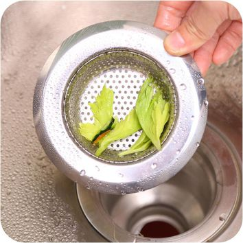 Kitchen Bathroom Stainless Steel Bathtub Hair Catcher Stopper Shower Drain Hole Filter Trap Metal Sink Strainer S M L