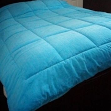 Cheap Dorm Room Bedding Necessities - College Plush Comforter - Aqua Bedding - Twin XL Dorm Supplies