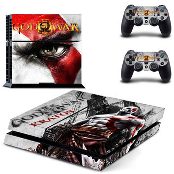 God of war kratos decal for ps4 console skin sticker
