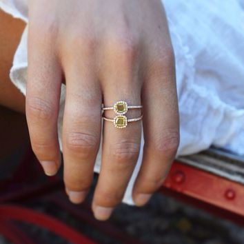 14kt rose gold raw sliced diamond ring – Luna Skye by Samantha Conn