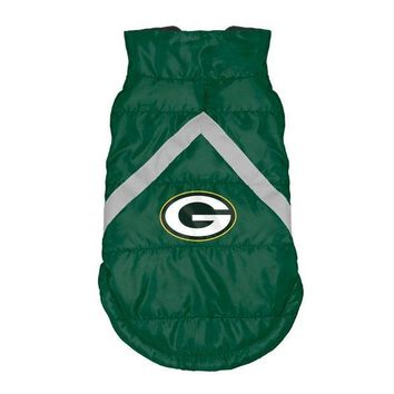 PEAPYW9 Green Bay Packers Pet Puffer Vest