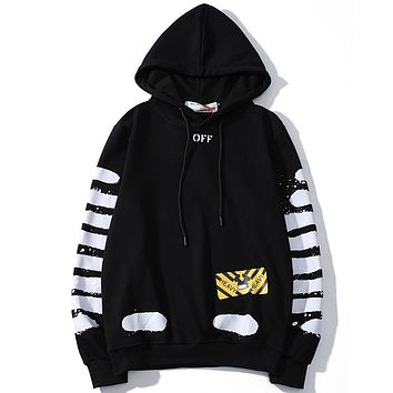 Off White Women or Men Fashion Casual Loose Top Sweater Hoodie