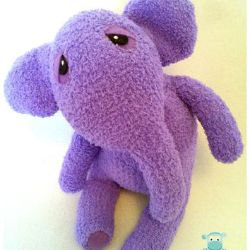 Plush Elephant, Purple Sock Elephant, Stuffed Animal, Sock Animal, Baby Shower, Nursery Gift