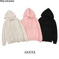 GUCCI hot seller of couples' long-sleeve hoodies with fashionable embroidery hoodies