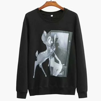 Givenchy Women Men Fashion Long Sleeve Pullover Sweater Sweatshirt Hoodie Black G-A-HRWM