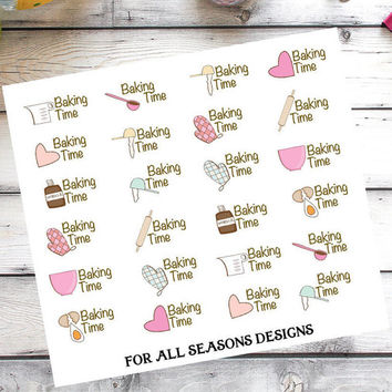 Baking Planner Stickers, Cooking Planner Stickers, Fits Erin Condren Planner, Life Planner Sticker