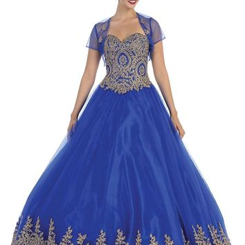 Long Prom Dress Formal Quinceanera Ball Gown