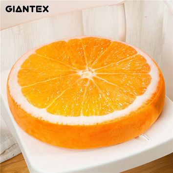 GIANTEX Soft 3D Print Plush Fruit Cushion Home Office Kitchen Decor Chair Pad Seat Cushion Pillow Buttocks Chair Cushion U0767
