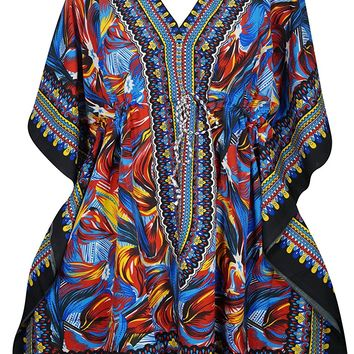 Women's Short Kaftan Beach Swimsuit Cover up Caftan Dress One Size: Amazon.ca: Clothing & Accessories
