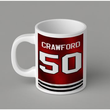 Gift Mugs | Crawford Chicago Blackhawks Ceramic Coffee Mugs