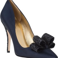Kate Spade Latrice Evening Pump Navy Satin - Jildor Shoes, Since 1949
