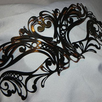 Black Metallic Masquerade Mask