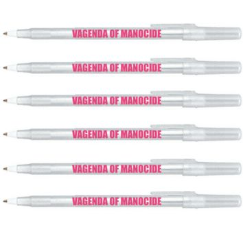 VAGENDA OF MANOCIDE Clear Sparkle Pen Pack - 6 Pens
