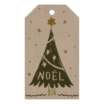 Noel Tree with Stars | Gift Tag