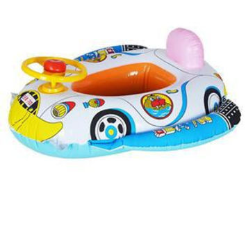 Cartoon Cute Baby Swimming Seat Ring Children Swim Ring Water Sports Kids Inflatable Car Style Pool Float Boat
