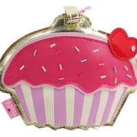 Fluff Kawaii Cute Sweet Frosting Cupcake Love Cupcake Large Luggage Tag