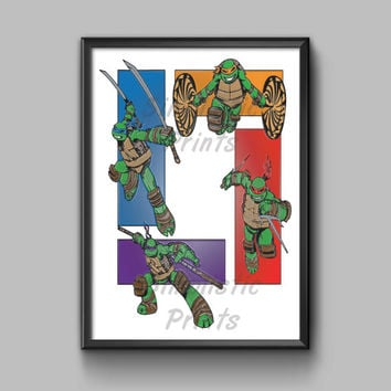 Teenage Mutant Ninja Turtles wall art 8x10 by SimplisticPrints