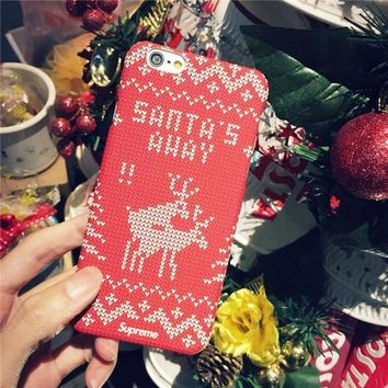 Hot Deal Iphone 6/6s On Sale Stylish Cute Matte Iphone Christmas Phone Case [8365215297]