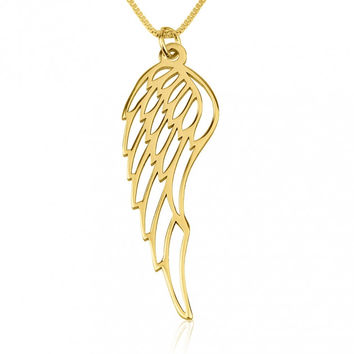 24k Gold Plated Wing Necklace