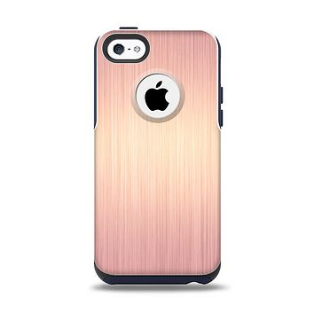 The Rose Gold Brushed Surface Apple iPhone 5c Otterbox Commuter Case Skin Set