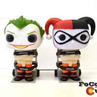 Custom Funko Pop! Joker and Harley Quinn Mad Love Straight Jacket, (Arkham Asylum, Batman, Dark Knight, Killing Joke, Suicide Squad)