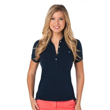 Country Club Prep Ambassador Women's Skipjack Polo in Navy by Southern Tide