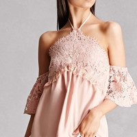 Lace Open-Shoulder Top