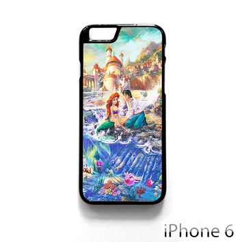 Disney The Little Mermaid Art Paint for Iphone 4/4S Iphone 5/5S/5C Iphone 6/6S/6S Plus/6 Plus Phone case