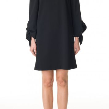 Tibi Structured Crepe Off-the-Shoulder Dress