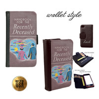 iPhone and Galaxy leather wallet case - Beetlejuice Handbook for the recently deceased