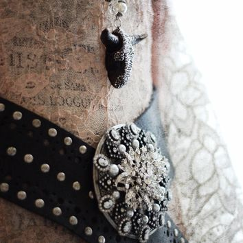 Stagecoach Rhinestone Glam belt, Gypsy cowgirl Texan Belt, Womens Belt, True Rebel Clothing