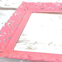 Vanity Tray mirror upcycled pink paint  bright housewares modern home decor bedroom decor