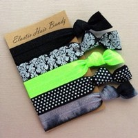 The Lime Sophisticated Hair Tie Ponytail Holder Collection by Elastic Hair Bandz