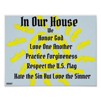 In Our House We Poster