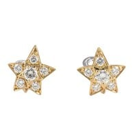 Chanel Comete Diamond gold Earrings