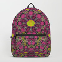 Butterflies  roses in gold spreading calm and love Backpack by Pepita Selles