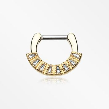 Golden Sabre Arc Septum Clicker