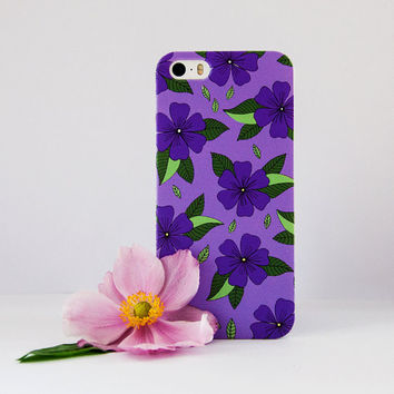 Anemone Flower. Hand drawn floral pattern case design for iPhone cases, Samsung Cases, Nokia cases and Blackberry cases. Dessi Designs