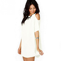 Loose Chiffon Short Sleeve Dress Casual