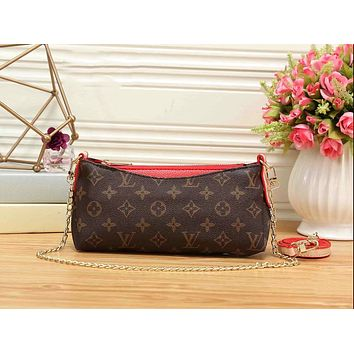 LV Trending Women Stylish Leather Handbag Shoulder Bag Crossbody Satchel Red I-KR-PJ