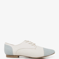 Colorblocked Canvas Oxfords