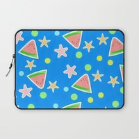 Day at the Beach Laptop Sleeve by Bunhugger Design