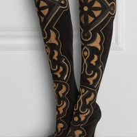 Versace New Embellished Suede Boots