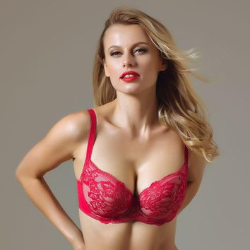 Padded Plunge Lace Bra Lavinia Raspberry Kiss