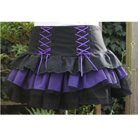 Halloween witch goth skirt black broderie anglaise by dashAmbler