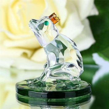 Crystal Frog Glass Figurine