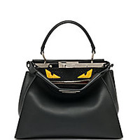 Fendi - Peekaboo Monster Leather & Python Satchel - Saks Fifth Avenue Mobile